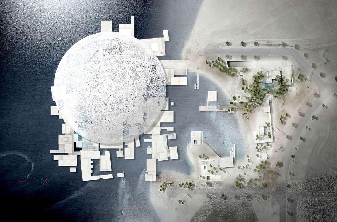 Museo Louvre Abu Dhabi Isla Saadiyat museum island